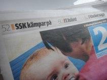 SSK kämpar på, berättade Sundsvalls Tidning på framsidan av del 2 idag. Jajamän.