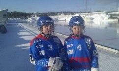 Olle Sandin och Markus Holdo levererade matchbollen.