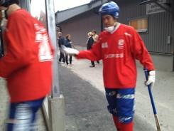 Norgren inför en träningsmatch mot Helenelund i Uppsala hösten 2011.
