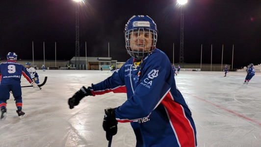 Nummer 18 Karl Rimér Högberg. Foto: Jonas Rönnqvist.