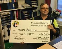 Mats Persson - the winner.