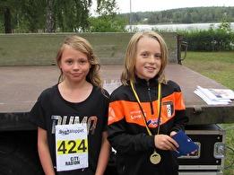 Vinnare 2,5 km barn    Felicia Atterstig & Love Magnusson Röjfors