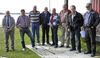 Fr.v. Anders, Everth, Bengt-Göran, Karl-Gustav, Stig, Erik, Jan-Åke, Karl-Olov. Foto av Bengt-Göran Nilsson