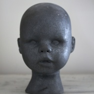 Raku Doll svart, Lisa Hammar Posse