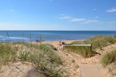 Sista cykeletappen tillbaka till Båstad följer den milslånga stranden från Laholm till Båstad, dag 4.