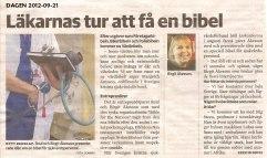 Artikel i DAGEN 2012-09-21