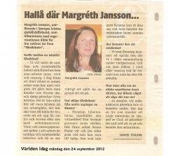 Artikel i Världen idag 2012-09-24