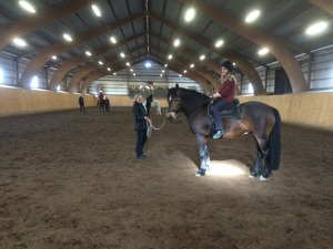 Academic Clinic step 2, on the picture Hanna Wessling on Nappe, and on the ground. Anna Lind, holding the line.