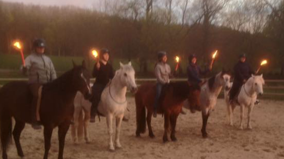 Super Team HV, Agneta & Dusty, Jenny & Poco, Vicky & Sahara, Me & Eamonn, Emma & Lizzie. All horse did great! Not one, wearing a bridle ;-)