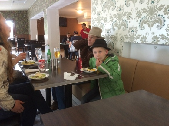 Pontus is so cute! Honza is his idol, that he always want to sit beside during evening dinner ;-)