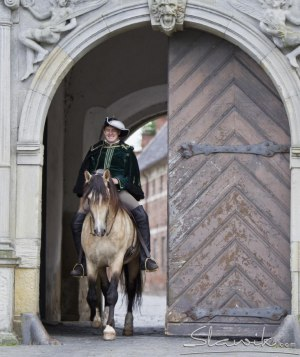 Christofer and Saxo, at Frederikborg's castle, Denmark. Photo: Christiane Slawik
