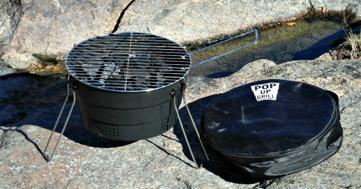 Pop-up-grill för kajakturen