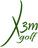 X3Mgolf logo RAL 6002