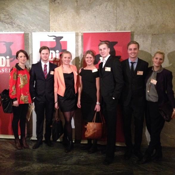 Glada MATIX-studenter på DI Gasell-galan. Elina, Christoffer, Hanna, Karin, Martin, Carl och Hanna.