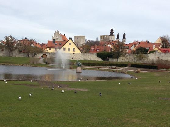 Gotland är fantastiskt vackert, här en vy från Visby, Almedalen