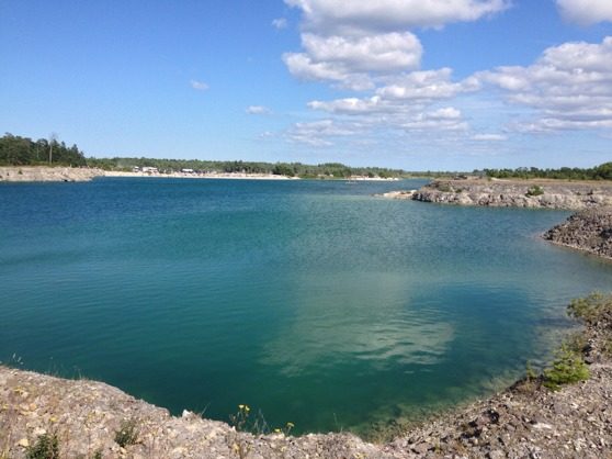 Blå Lagunen, norra Gotland