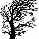 Encaustic Art - Stämpel - Vindblåst Träd (Beställningsvara)