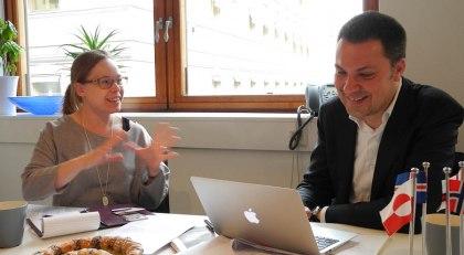 Maria Noleryd, NFS och Luca Visentini EFS diskuterar den nordiska modellen.