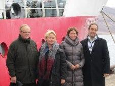 Nordiska arbetsministrar samlade på Svalbard 2012 (Foto: Norden.org)