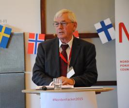 Poul Nielson på Nordisk Facklig Kongress i Køge, maj 2015. Foto: José Pérez Johansson