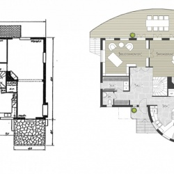 Design © Arkitekt Pål Ross - ENTRÉVÅNING FÖRE OCH EFTER