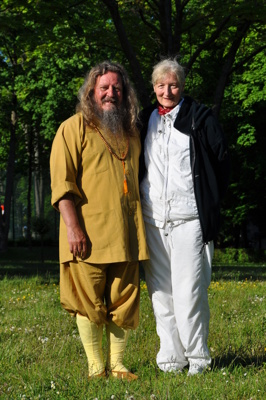 Master Marcus med Qigonginstruktör M.D. Grazyna Stoklosinska- Makowka ifrån Bielsko Biala.