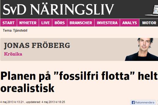 Vad har Jonas Fröberg emot elbilen?