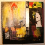 Mick 100x100 mixed media