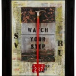 Watch your step  50x75 cm