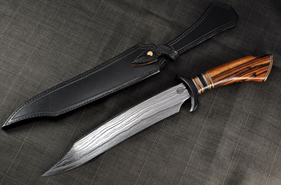 Bowie - Citadell blade with Zebrano, Bronze and Buffalo horn handle