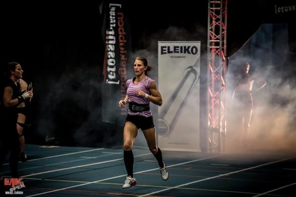 Foto: Mikael Svärd. Maria Abrahamsson här i finalen på MK open 2014 är en av förhandsfavoriterna i individuella damklassen i år.