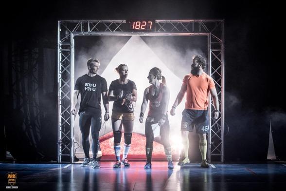 Även hemmaklubben, CrossFit Falun, ställer upp i lagtävlingen. Här är laget inför fjolårets final MK Open. I årets förstalag matchas Sofie Aniliadis, Malin Nyström och Karl-Oskar Larsson (bilden) samt Erika Sjöström, Viktor Larsson och Filip Hjort. FOTO: Mikael Svärd