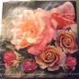 Servett 33x33, rosor - Servett