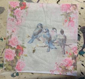 Servetter33x33, fåglar - Servett fåglar