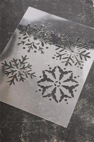 Schablon, snöflingor - Schablon, snöflingor