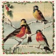 Servett vinterfåglar 33x33