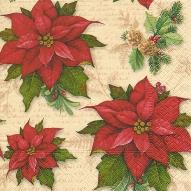 Servett Julstjärna 33x33