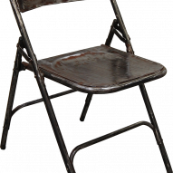 Folding chair - shiny polish with lacquer