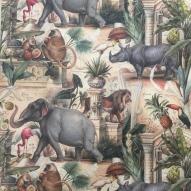 Decoupage papper, elefanter m.m