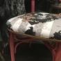 Bemålad stol med Van Asch tyg
