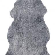 Curly Rug Grey silver