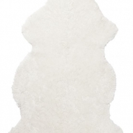 Curly Rug white