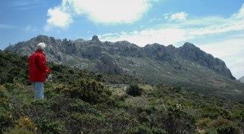Monte Albo med toppar på ca 1 100 m