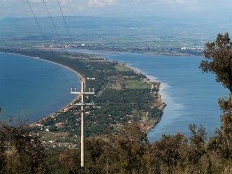 Norra förbindelsen mellan Monte Argentario och fastlandet