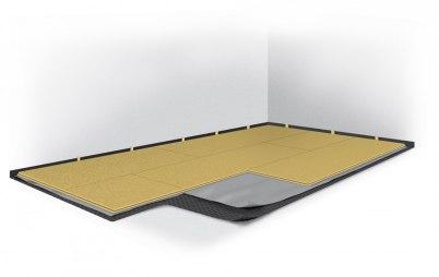 Flytande golv betongplatta