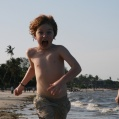 at the bagamoyo beach