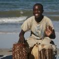 drumplayer at the beach