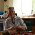 Micke and the strawberries