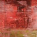 """""""Red city"""" oil on canvas, 150 cm x 130 cm"""
