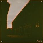 Luft, slottet i Stockholm, foto på lerret, akrylglass, 50 cm x 50 cm